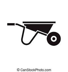 Garden Wheelbarrow Icon
