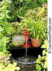 Garden Wishing Well - A beautiful garden wishing well.