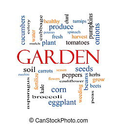 Garden Word Cloud Concept