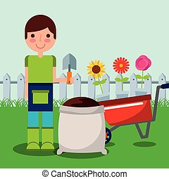 gardener boy farm work