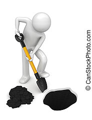 gardener-digger, -, werkmannen , verzameling
