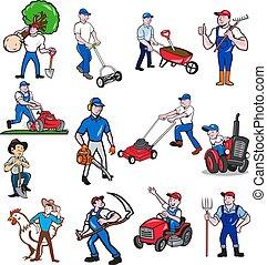gardener-farmer-mascot-CARTOON-SET