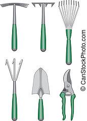 Gardener Hand Tools - Illustration of gardeners or...