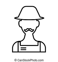 Gardener line icon. vector illustration isolated on white. outline style design, designed for web and app. Eps 10