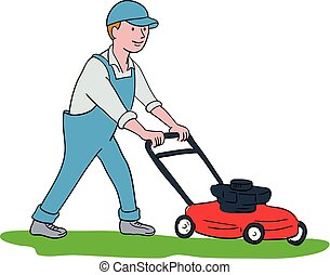 gardener-mowing-lawnmower-cartoon