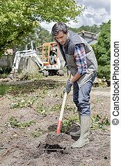gardener planting
