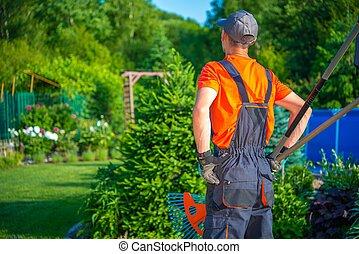 Gardener Ready to Work