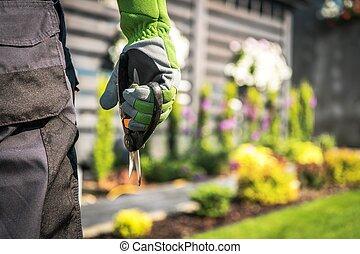 Gardener with Scissors