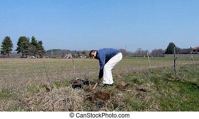 gardener with shovel