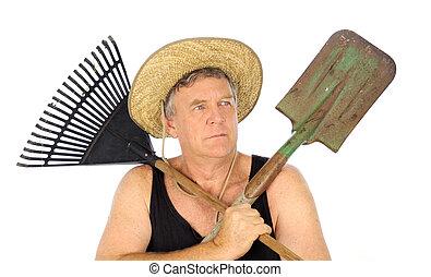 Gardener With Tools