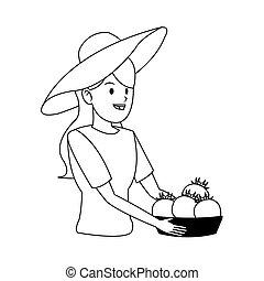 gardener woman icon