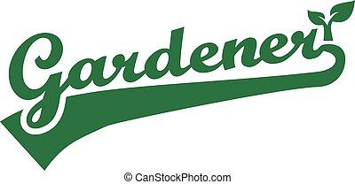 Gardener Word Retro