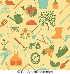Gardening background. Seamless Pattern