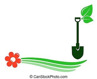 gardening background with flower