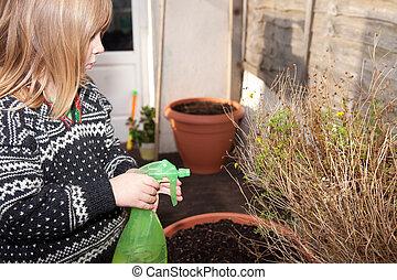 gardening child boy garden