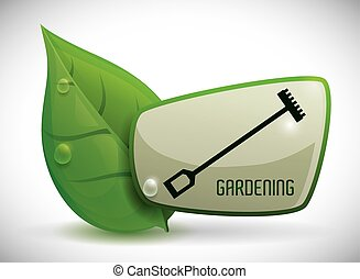 Gardening design - Gardening concept with natural icons ...