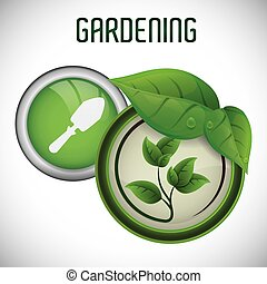 Gardening concept with natural icons design, vector illustration 10 eps graphic.