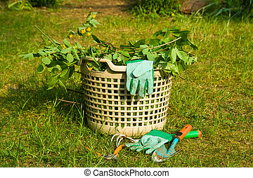 gardening - garden rubbish