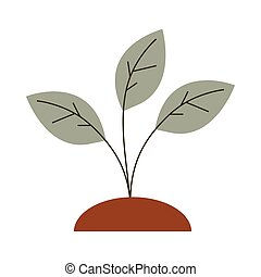 gardening growth plant icon on white background