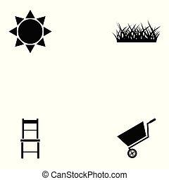gardening icon set