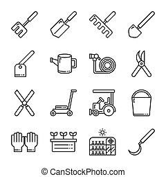Gardening icon set. Vector illustration