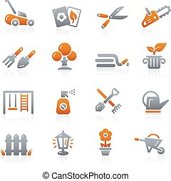 Gardening Icons -- Graphite Series - Vector icons for your...