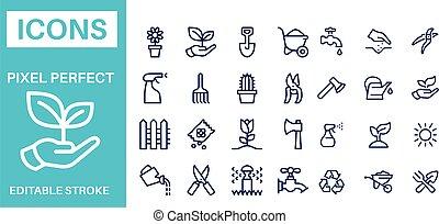 Gardening icons vector design