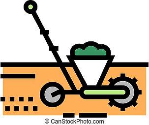 gardening machine color icon vector illustration