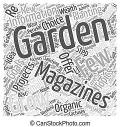 gardening magazines Word Cloud Concept