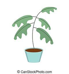 gardening plant in pot decoration icon on white background