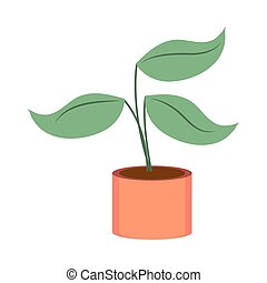 gardening plant in pot icon on white background