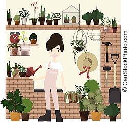Gardening set.