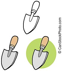 Small Hand Trowel. Collection Set