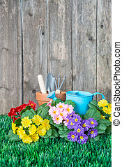 Concept of gardening hobby with copy-space