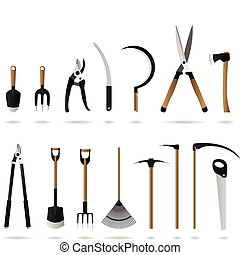 Gardening Tools Set - A set of gardening tools and ...