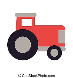 gardening tractor on white background