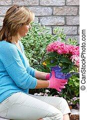 Gardening woman.