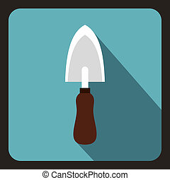 Gardenn scoop icon, flat style