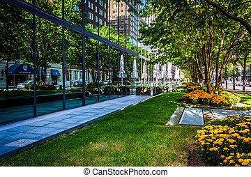 Gardens and the John Hancock Building in Boston,...