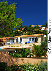 Gardens and villas on French Riviera - Lush gardens and...