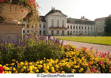 gardens behind the Grassalkovich palace (slovak: Grassalkovicov palac) in Bratislava, capital city of Slovakia.