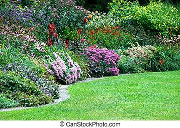 colorful flower gardens in Regent's park London