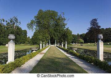 Gardens of Chantilly castle, Picardie, France