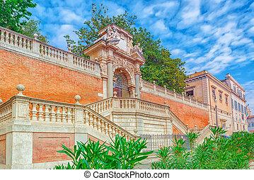 Gardens of Montecavallo (Giardini di Montecavallo) near...