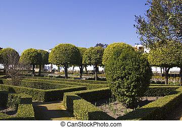 Gardens of the alcazar in Cordoba