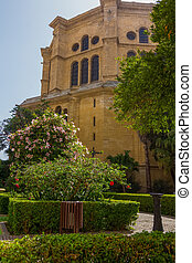 Gardens of the Cathedral of Malaga, Spain