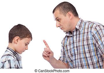 garder, sien, père, leçon, fils