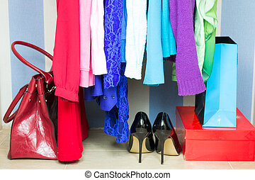 garderobe, kleidung