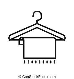 Kleiderbügel clipart  Vektoren Illustration von hölzerner kleiderbügel, piktogramm ...