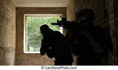 gardes forestiers, escouade, anti, pendant, terrorisme, ...